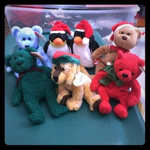 7 Winter holiday Beanie babies